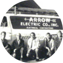 Circular image of Arrow employees
